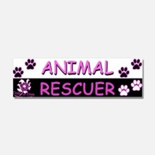 ANIMAL RESCUER (Purple) Car Magnet 10 x 3