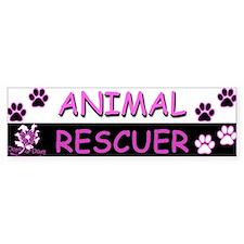 ANIMAL RESCUER (Purple) Bumper Sticker