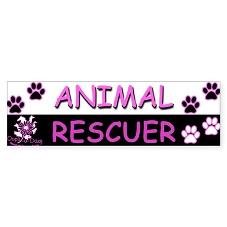 ANIMAL RESCUER (Purple) Sticker (Bumper)