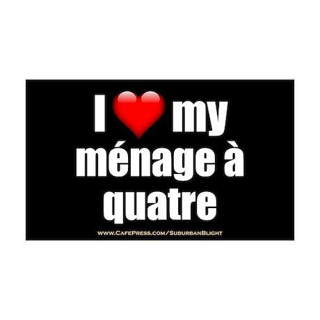 """""""Love Menage a Quatre"""" 35x21 Wall Decal"""