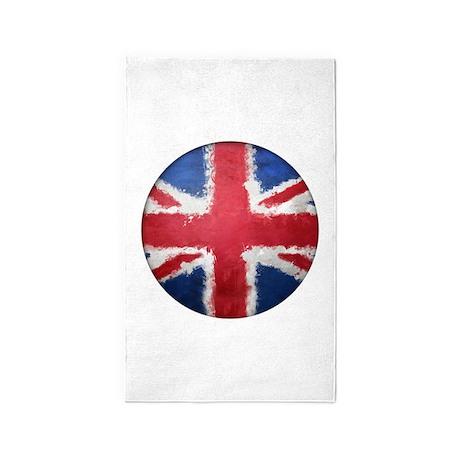 Union Flag Grunge Button 3'x5' Area Rug