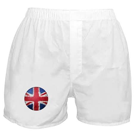 Union Flag Grunge Button Boxer Shorts