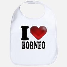 I Heart Borneo Bib