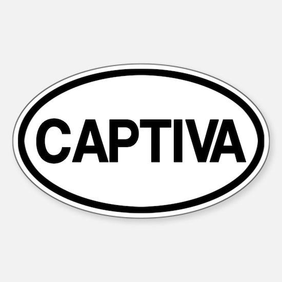 Captiva Sticker (Oval)