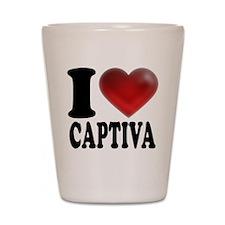 I Heart Captiva Shot Glass