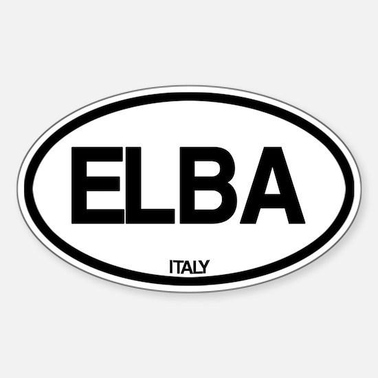 Elba, Italy Sticker (Oval)