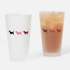 Lovely Bassets Drinking Glass