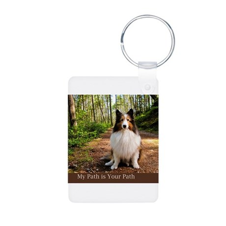 My Path is Your Path Aluminum Photo Keychain
