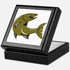 Muskie Muskellunge Fish Retro Keepsake Box