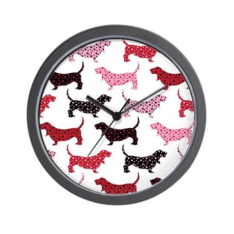 Lovely Bassets Wall Clock