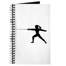 Girl Fencer Lunging Journal