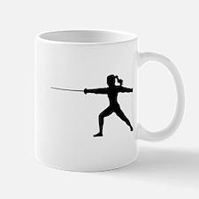 Girl Fencer Lunging Mug