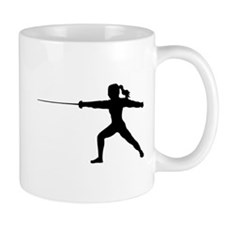 Girl Fencer Lunging Mug
