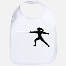 Girl Fencer Lunging Bib