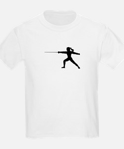 Girl Fencer Lunging T-Shirt