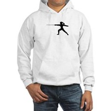 Girl Fencer Lunging Hoodie