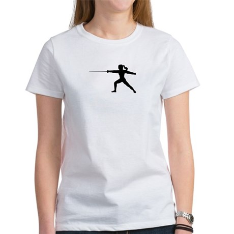 Girl Fencer Lunging Women's T-Shirt