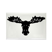 Moose Head Rectangle Magnet