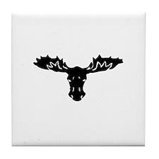 Moose Head Tile Coaster