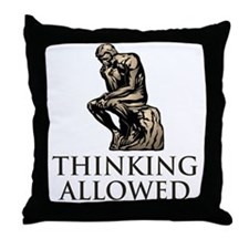 The Thinker's Throw Pillow