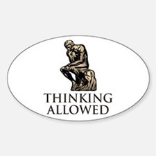 The Thinker's Oval Decal