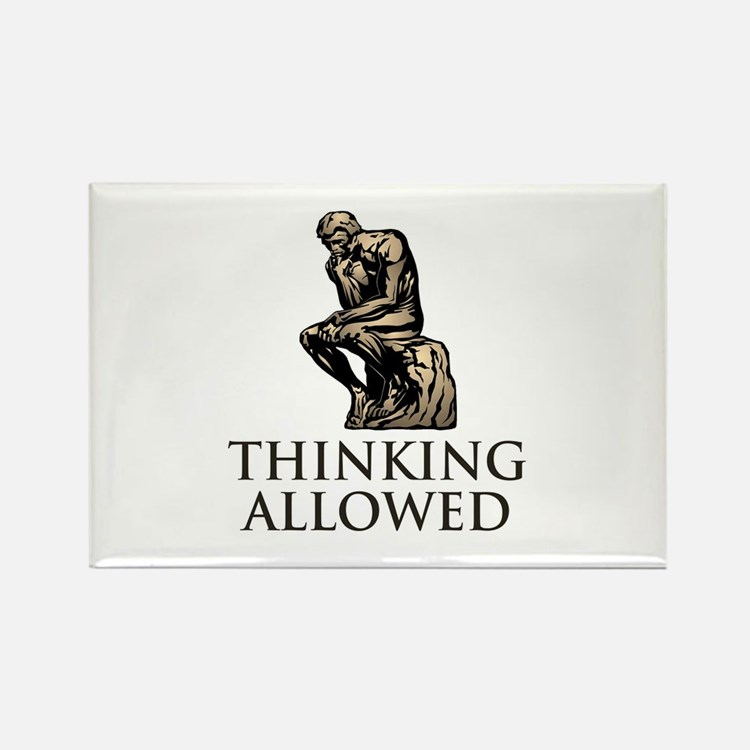 The Thinker's Rectangle Magnet