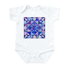 Blue Quilt Watercolor Infant Bodysuit