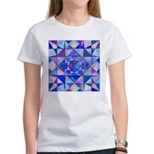 Blue Quilt Watercolor Tee