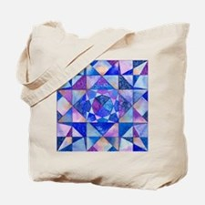 Blue Quilt Watercolor Tote Bag