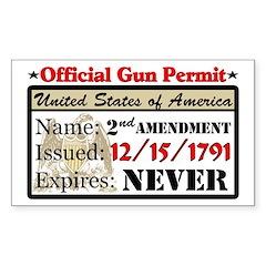 """Official Gun Permit"" Decal"