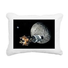Apollo spacecraft at the Moon, artwork - Pillow