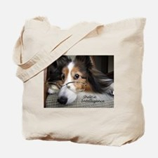 Sheltie Intelligence Tote Bag