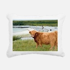 Highland cattle by the sea - Pillow