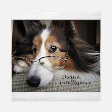 Sheltie Intelligence Queen Duvet