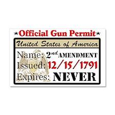 """""""Official Gun Permit"""" Car Magnet 20 x 12"""