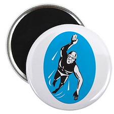 Swimmer Swimming Retro Magnet