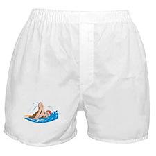 Swimmer Swimming Retro Boxer Shorts