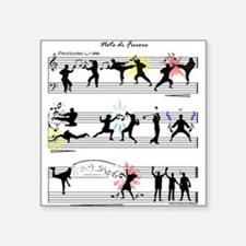 "Musical Fight Scene! Square Sticker 3"" x 3"""