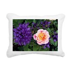 Rose flower and clustered bellflowers - Pillow