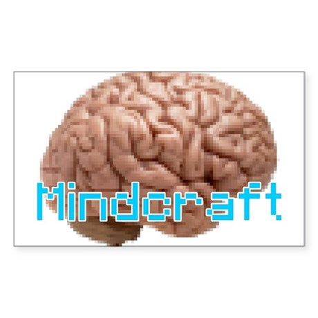 Mindcraft, the game of minds. Sticker (Rectangle)