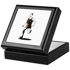 Marathon Runner Running Retro Keepsake Box