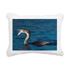 White-breasted cormorant with fish - Pillow