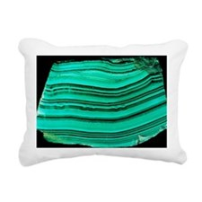A polished slab of malachite - Pillow