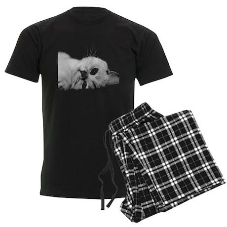 Cat Face Men's Dark Pajamas
