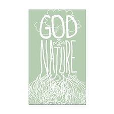 God Is Nature Rectangle Car Magnet
