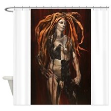 Male Harlequin Shower Curtain