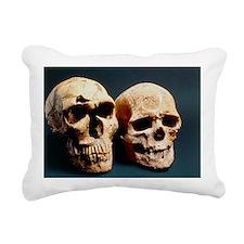 Neanderthal and Cro-Magnon 1 skulls - Pillow