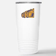 Video Camera Recorder Woodcut Travel Mug