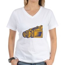 Video Camera Recorder Woodcut Shirt