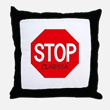 Stop Clarissa Throw Pillow
